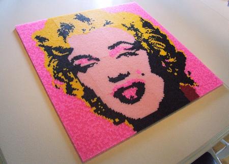 Monroe Warhol Pärlplatta Klar
