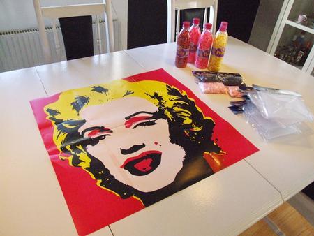 Monroe Warhol Pärlplatta start
