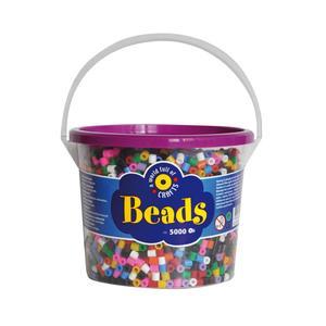 Playbox - Midi-pärlor i hink, 5000 st, 10-färgsmix