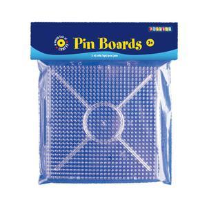 Playbox - Pärlplatta midi, byggbara, 2 st, transparenta