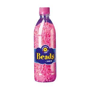 Playbox - Midi-pärlor i flaska, 3500 st, rosa mix