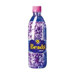 Playbox - Midi-pärlor i flaska, 3500 st, lila mix